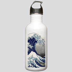 great wave of Kanagawa by hokusai Water Bottle