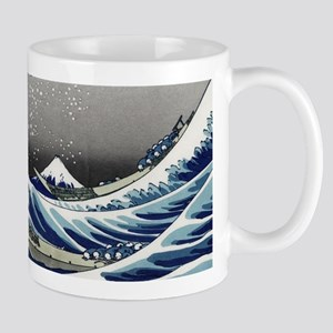 great wave of Kanagawa by hokusai Mugs