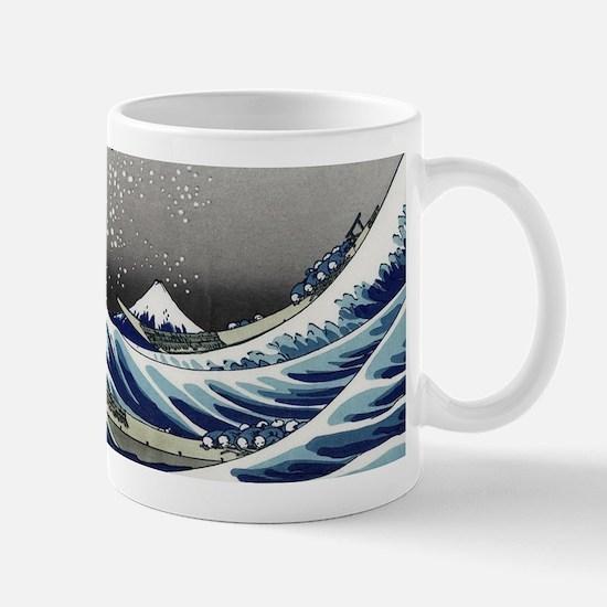 great wave of Kanagawa by hokusai Mugs