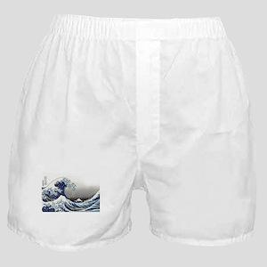 great wave of Kanagawa by hokusai Boxer Shorts