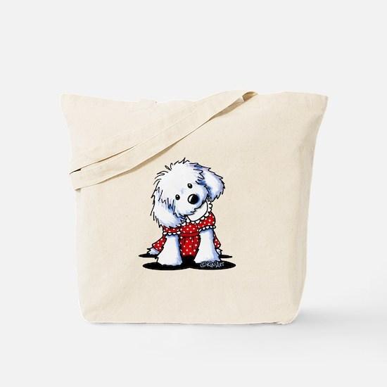 Maltese In Dots Tote Bag