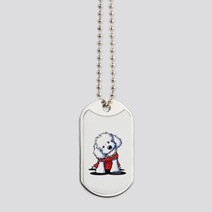 Maltese In Dots Dog Tags