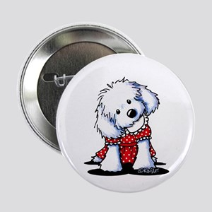 "Maltese In Dots 2.25"" Button"