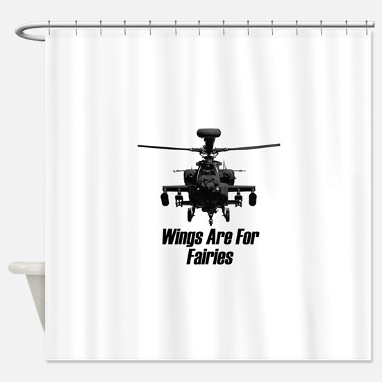 Cute Helicopter Shower Curtain