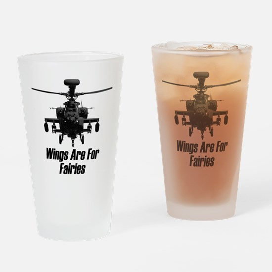 Funny Helicopter Drinking Glass