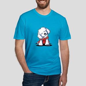 Maltese In Dots Men's Fitted T-Shirt (dark)