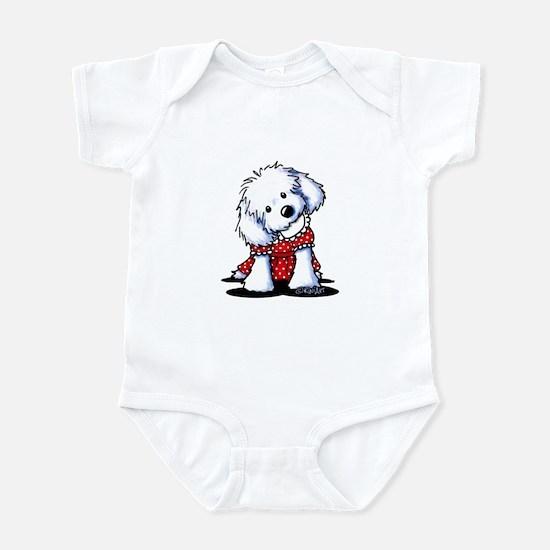 Maltese In Dots Infant Bodysuit