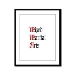 Mixed Martial Arts Framed Panel Print