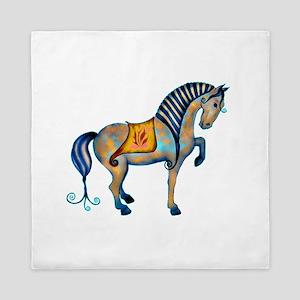 Tang Horse Two Queen Duvet