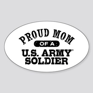 Proud U.S. Army Mom Sticker (Oval)