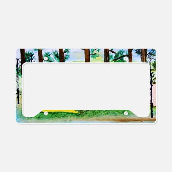 Air stream Camper on the lake License Plate Holder