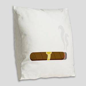 Cigar Burlap Throw Pillow