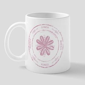 create, inspire (pink) Mug
