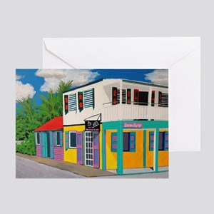 Tortola Houses Greeting Card