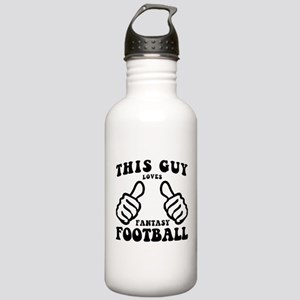 This Guy Loves Fantasy Football Water Bottle