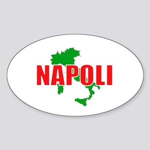 Napoli, Italia Oval Sticker