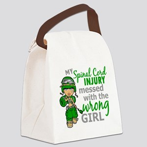 Spinal Cord Injury CombatGirl1 Canvas Lunch Bag