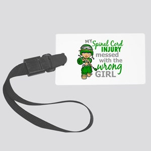 Spinal Cord Injury CombatGirl1 Large Luggage Tag