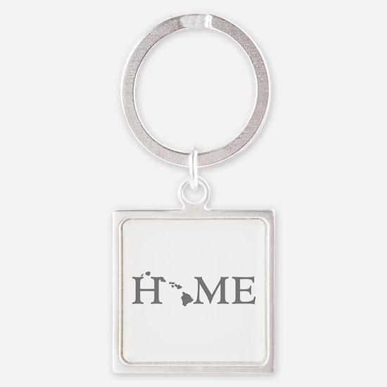Hawaii Home Square Keychain