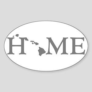 Hawaii Home Sticker (Oval)
