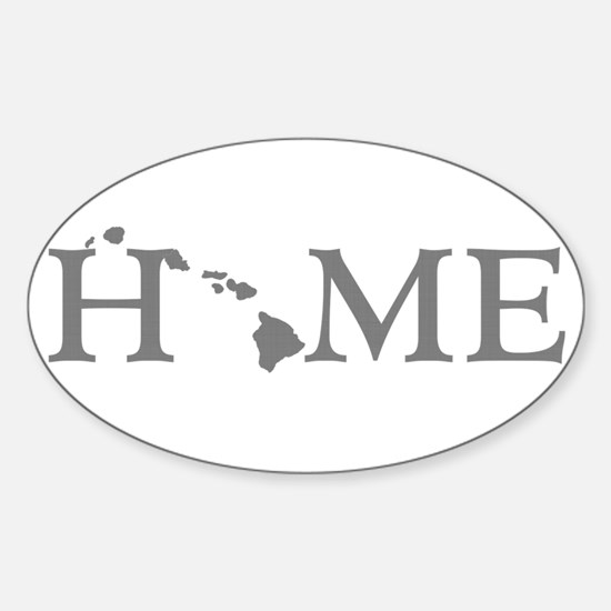 Hawaii Home Sticker (Oval)