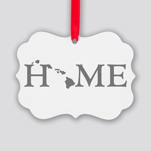 Hawaii Home Picture Ornament