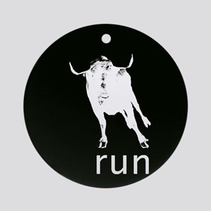 Running With The Bulls Ornament (Round)