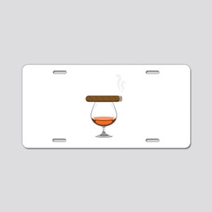 Brandy Cognac Cigar Aluminum License Plate