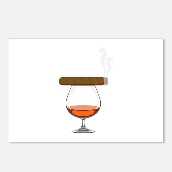 Brandy Cognac Cigar Postcards (Package of 8)