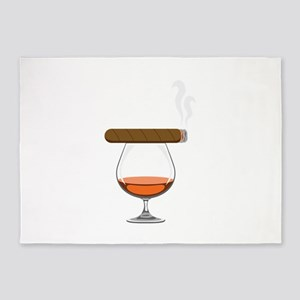 Brandy Cognac Cigar 5'x7'Area Rug
