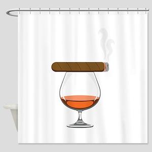 Brandy Cognac Cigar Shower Curtain