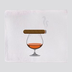 Brandy Cognac Cigar Throw Blanket