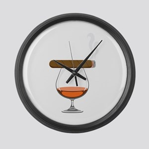 Brandy Cognac Cigar Large Wall Clock