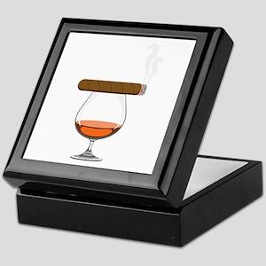Brandy Cognac Cigar Keepsake Box