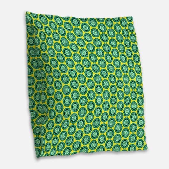 anahata_pattern Burlap Throw Pillow