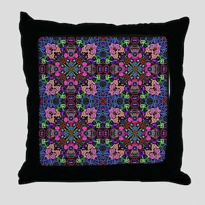 aya - blue - pink Throw Pillow