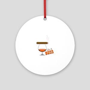 Like a Boss Ornament (Round)