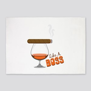 Like a Boss 5'x7'Area Rug