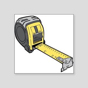 Yellow Tape Measure Sticker