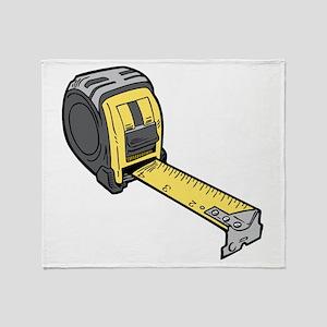 Yellow Tape Measure Throw Blanket