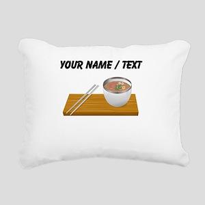 Custom Asian Soup Rectangular Canvas Pillow