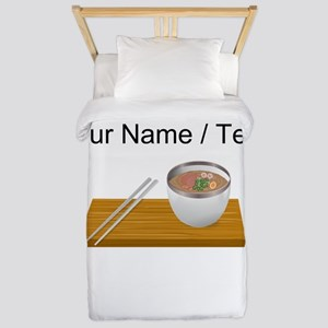 Custom Asian Soup Twin Duvet