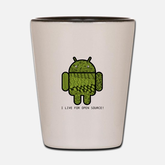 Paisley Doodle Character for Android™ Shot Glass