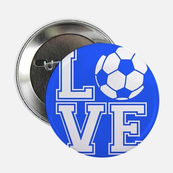 "Love Soccer, Royal Blue1 2.25"" Button (10 pack)"
