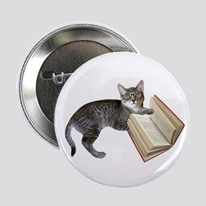 """Reading Cat 2.25"""" Button"""