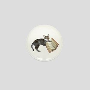 Reading Cat Mini Button