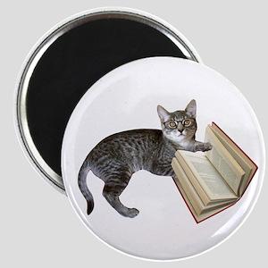 Reading Cat Magnet