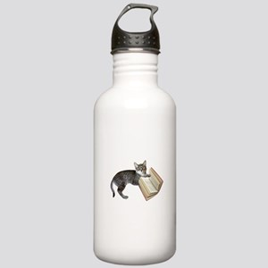 Reading Cat Stainless Water Bottle 1.0L