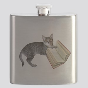 Reading Cat Flask