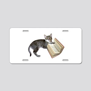 Reading Cat Aluminum License Plate